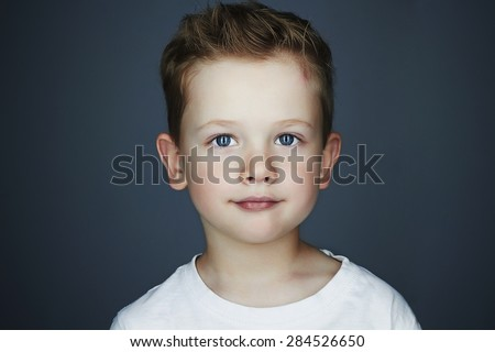 child. funny little boy. 5 years old.Trendy children of the world - stock photo