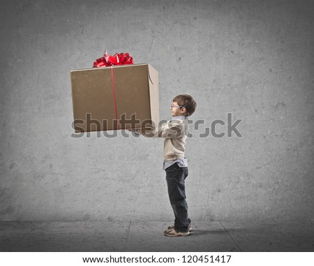 Child giving a great gift to someone