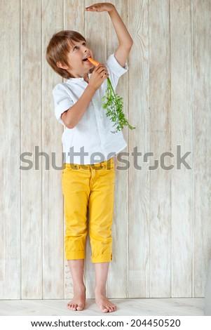 child grows - stock photo