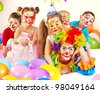 Child happy birthday party . - stock photo