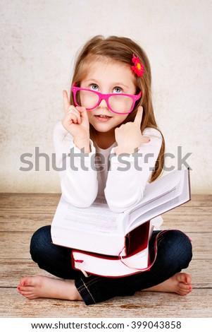 Child having an idea - stock photo