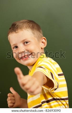 child having fun at recess - stock photo