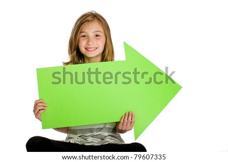 child holding a blank sign for an advertisement.