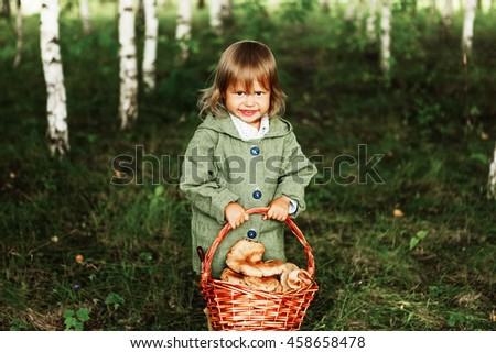 Child in forest.