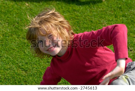 Child in Park - stock photo