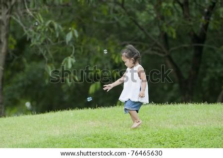 child in park - stock photo