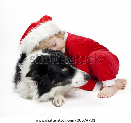child in Santa Claus outfit