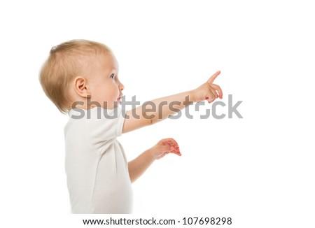 Child in white shirt - stock photo
