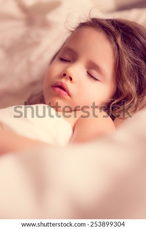 Child is taking a nap - stock photo