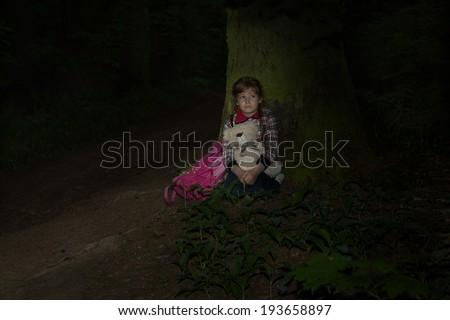 Child lost in the woods