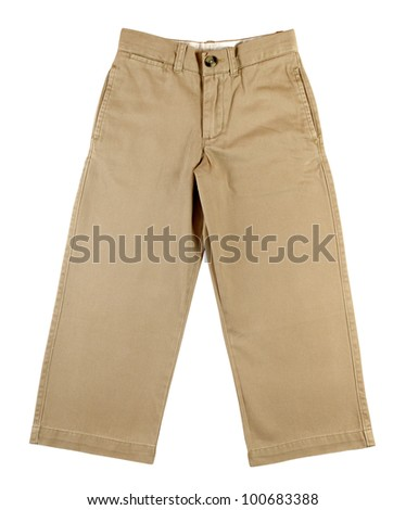 Child pants isolated on white background - stock photo