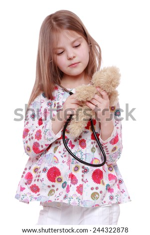 child playing with toy  - stock photo