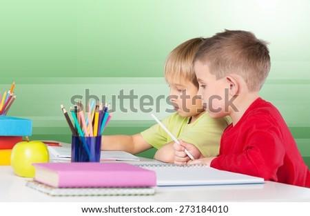 Child, preschooler, preschool. - stock photo