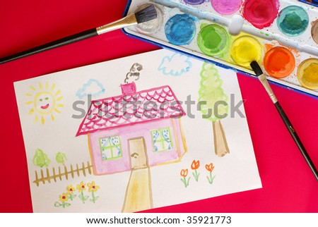 Child's drawing - home