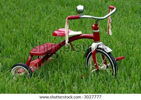 Child's Retro Tricycle - stock photo