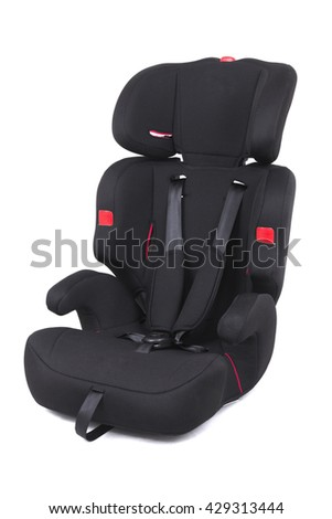 Child safety seat. Baby car seat isolated on white