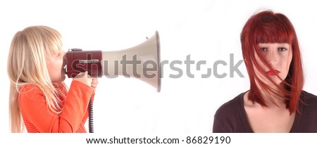 Child screaming for mom?s attention - stock photo