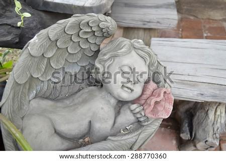 child statue - stock photo