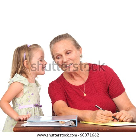 Child talking to a teacher