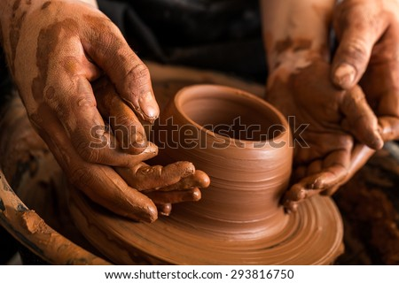 Child, Teaching, Pottery.