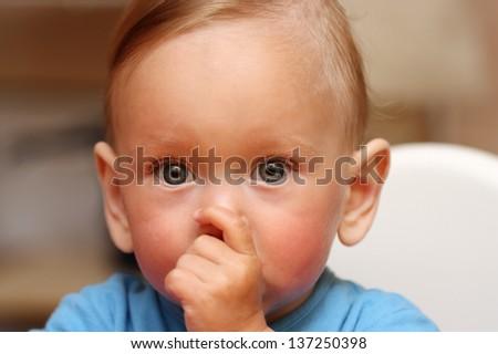 Child Thumb-sucking - stock photo