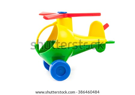 child toy in isolated white background. A close up - stock photo