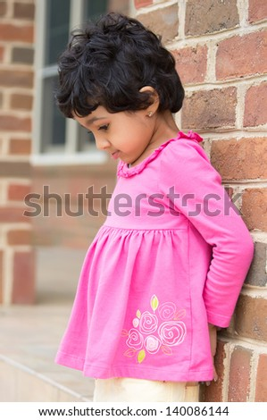 Child Upset Due to Getting Time Out - stock photo
