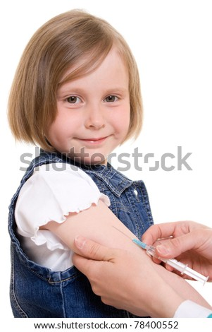 Child vaccinations on a white background. - stock photo