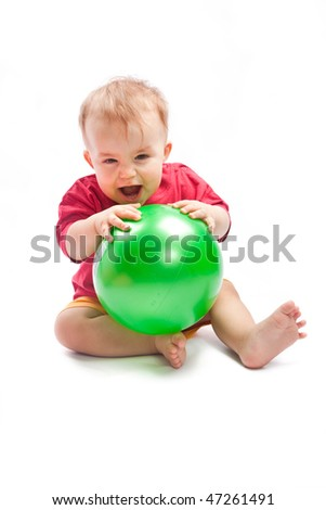 Child with ball - stock photo