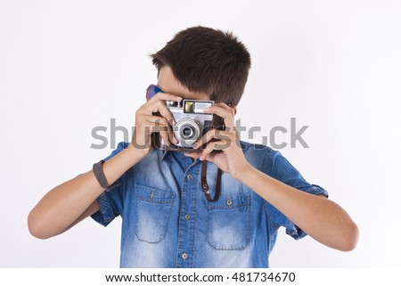 child with camera