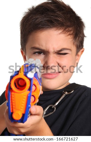 child with handgun game
