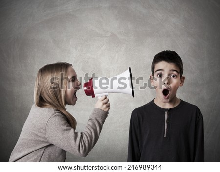 child with speaker