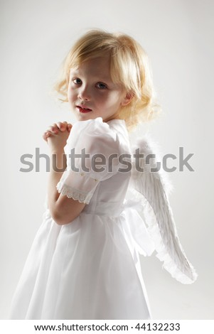 Child with wings of an angel