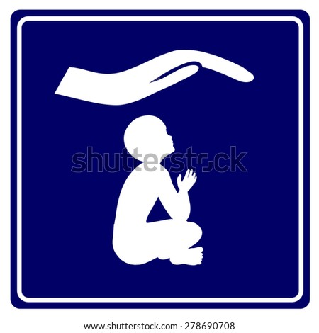 Childcare Center. Sign for daycare center, kindergarten or child shelter - stock photo