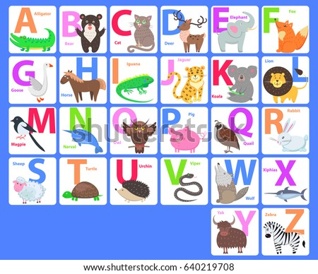 children alphabet animals letters a b stock vector 513172012