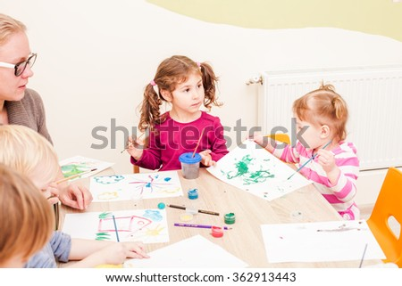 Children are painting