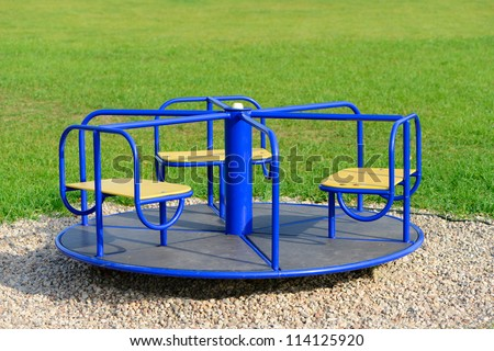Children Carousel - stock photo
