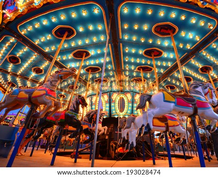 children carousels - stock photo