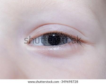 Children eyes close up - stock photo