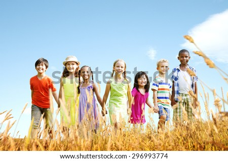 Children Friendship Smiling Happiness Concept