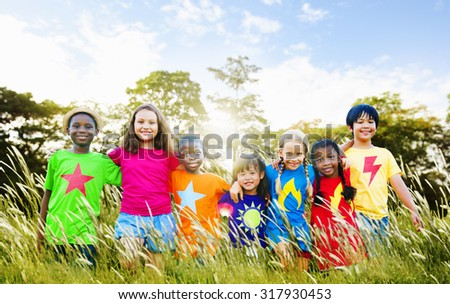 Children Friendship Togetherness Smiling Happiness