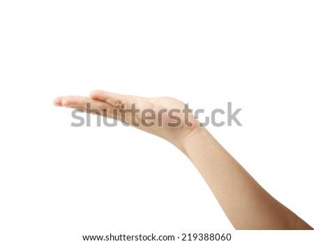 children hands on an isolated background - stock photo