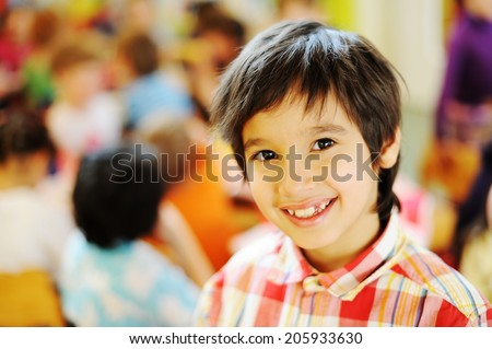 Children having fun at birthday party - stock photo