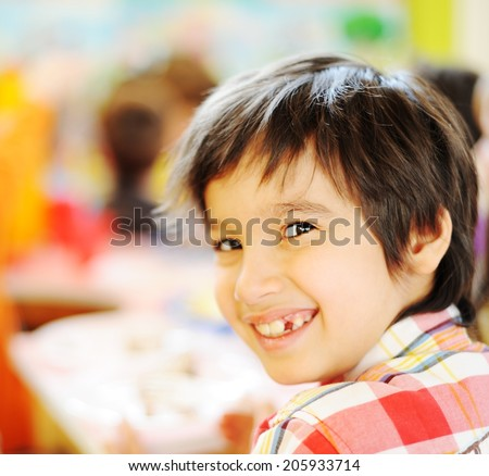 Children having fun at birthday party
