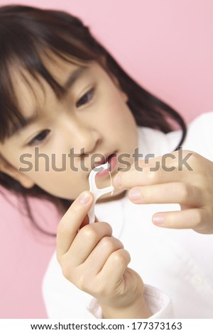 Children having the tooth treated