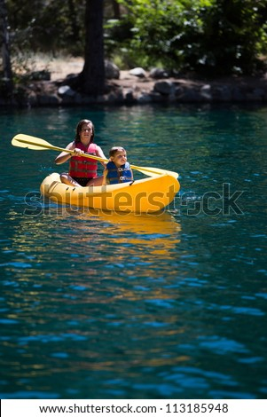 Children in Kayak