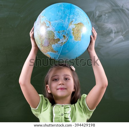 Children in school are educated, they are fun and carefree - stock photo
