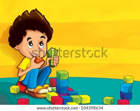 Children in the kindergarten 1 - stock photo