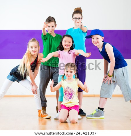 stock photo children in zumba class dancing modern group choreography 245421037 kids hip hop dance stock images, royalty free images & vectors,Childrens Zumba Clothes