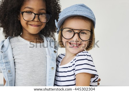Children Kids Friends Playful Happiness Concept - stock photo